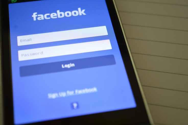 facebook internet login screen